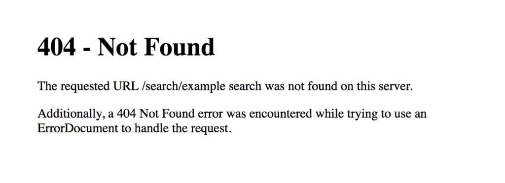 aangepaste 404 pagina